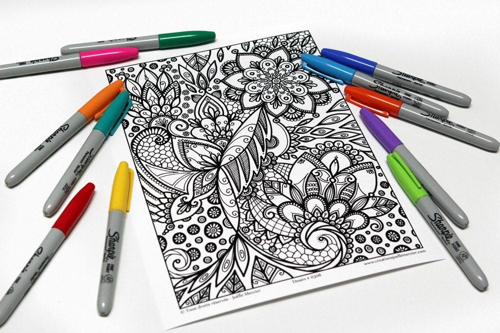Mandala-Färbung Zeichnung 0308 gedruckt auf Karton Färbung   Etsy