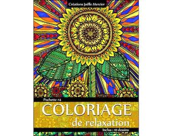 Bag #4-10 designs - relaxation coloring - flowers, elephant, cat, moose, marine, secret garden, butterfly, sunflower