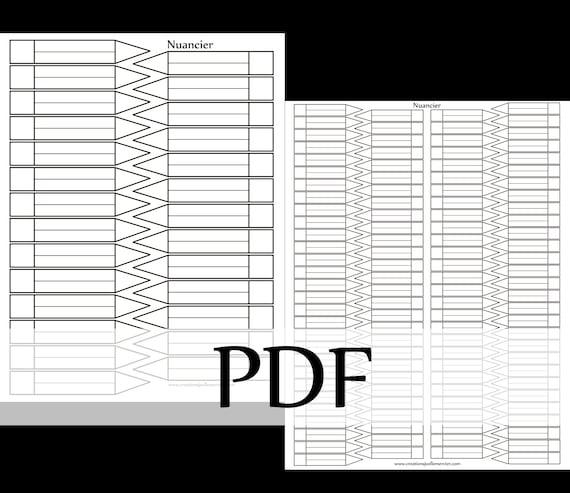 Téléchargement Instantané Nuanciers à Colorier Pour Classer Vos Couleurs Coloriage Classement Charte Version Pdf