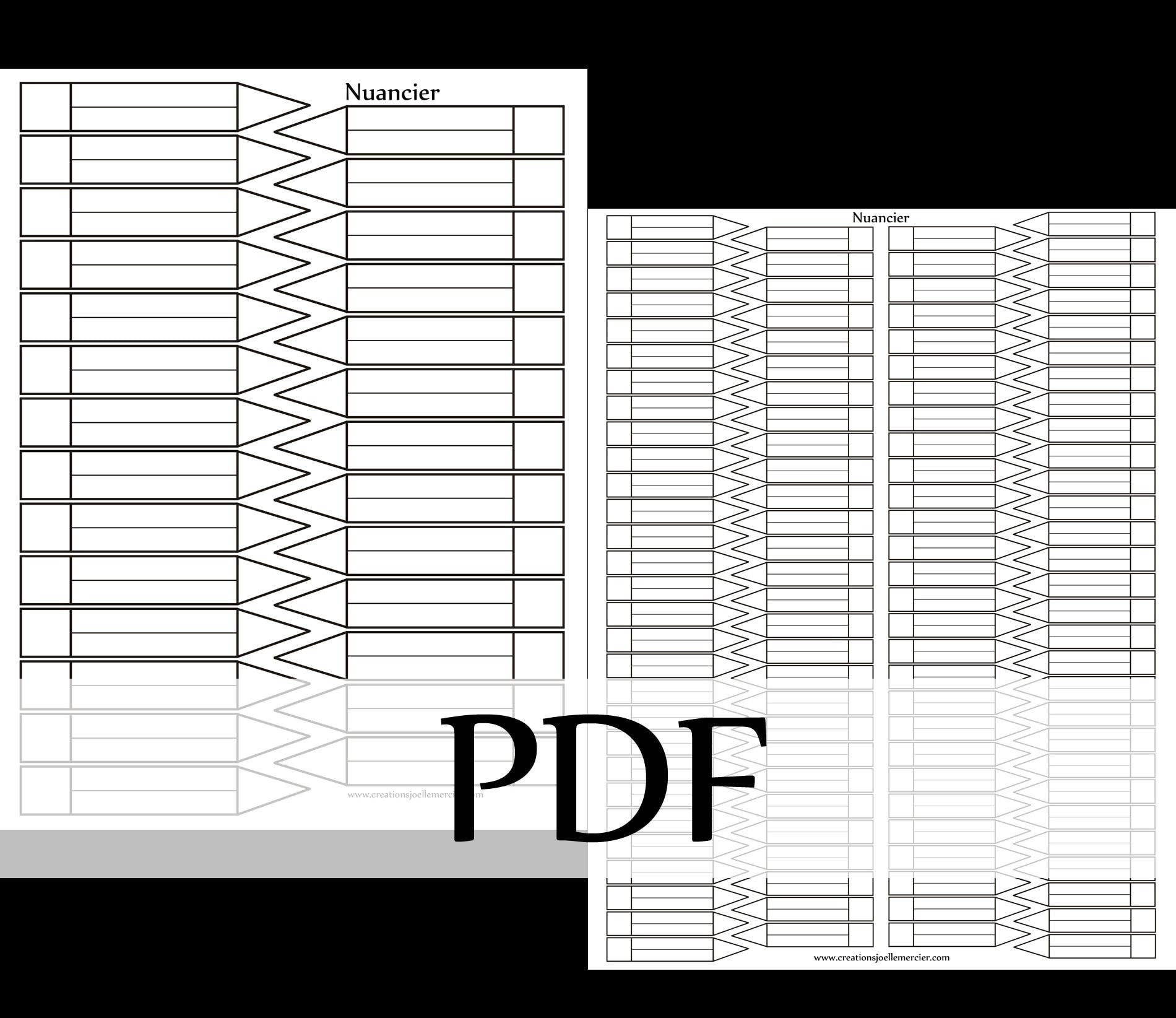 Coloriage Foot Pdf.Telechargement Instantane Nuanciers A Colorier Pour Classer Vos Couleurs Coloriage Classement Charte Version Pdf