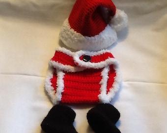 Crochet Newborn Baby Santa Outfit 07500055fe9d