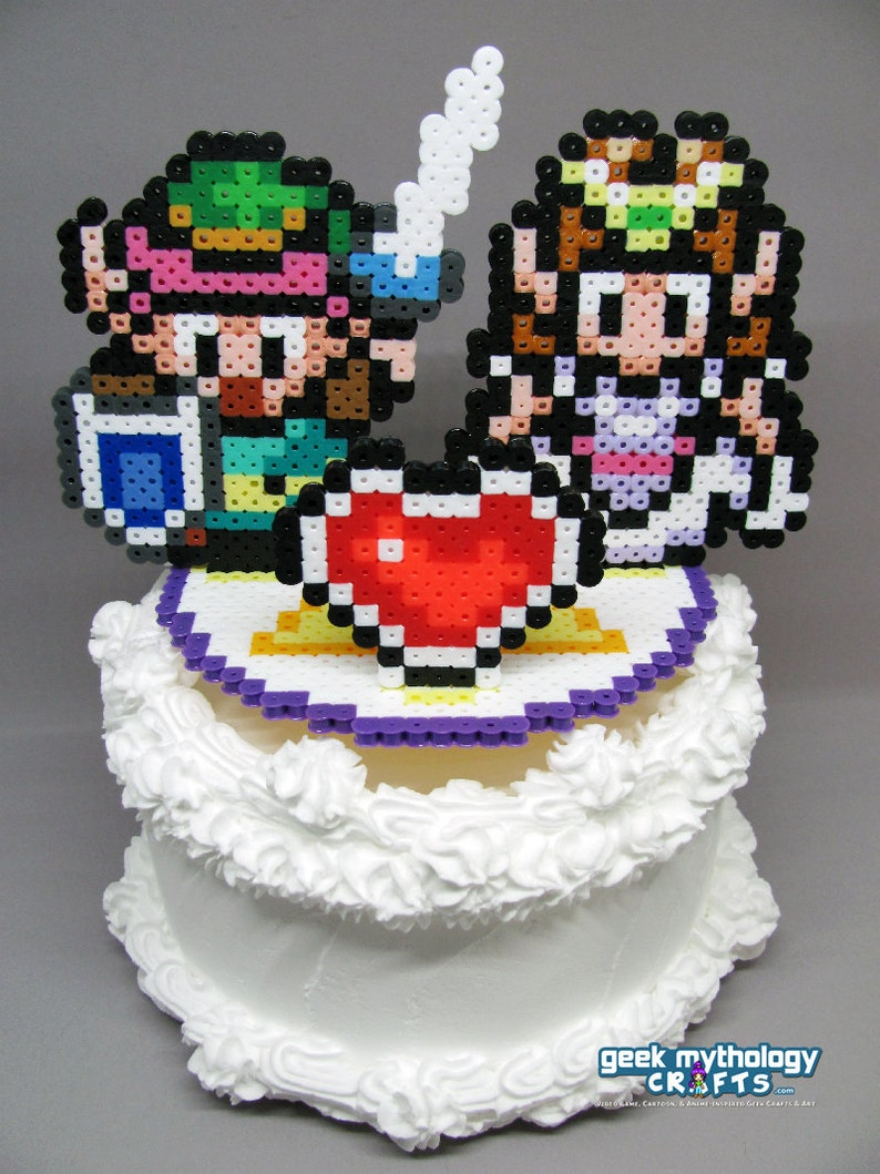 Legend Of Zelda Link To The Past Cake Topper With 5 25 Etsy