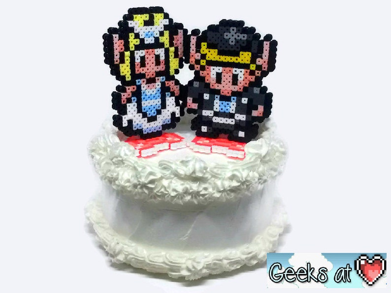 Link And Zelda Bride And Groom Wedding Cake Toppers Front Etsy