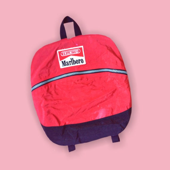 RARE Marlboro Backpack 90s Cigarette Company Kitsc