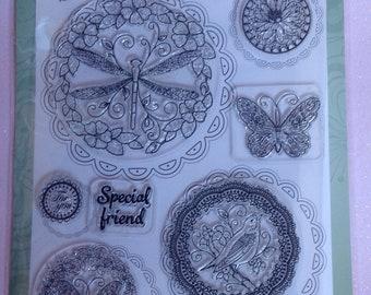Spellbinders Garden Collection-8 Acrylic Stamps