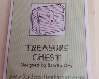 Treasure Chest Rubber Stamp by Kadoodle