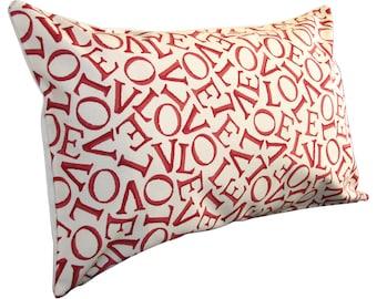 Emma Bridgewater Sanderson Love Red Bolster Cushion Cover