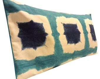 Scion Shoji Topaz Blue & Indigo Bolster Cushion Cover
