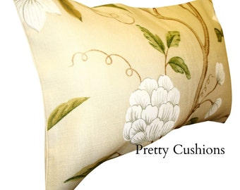 Colefax & Fowler Snow Tree Ivory Bolster Cushion Cover