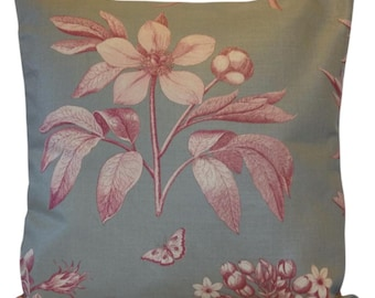 Sanderson Etchings & Roses Cushion Cover