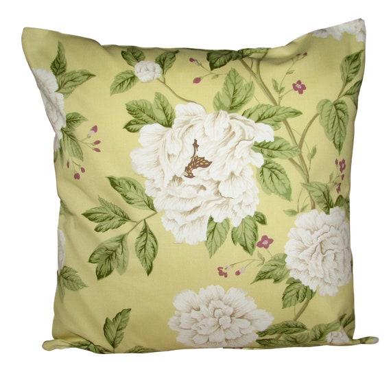 Sanderson Grandiflora Chartreuse /& Steel Cushion Cover