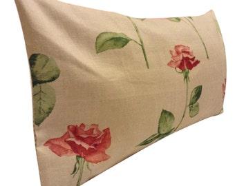 Nina Campbell Watercolour Rose Bolster Cushion Cover