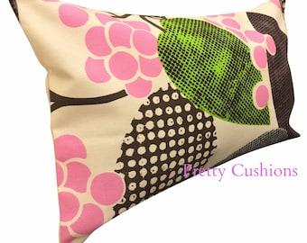 Designers Guild Barcelona Pink & Lime Bolster Cushion Cover