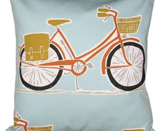 Scion Cykel Tangerine & Sulphur Blue Cushion Cover