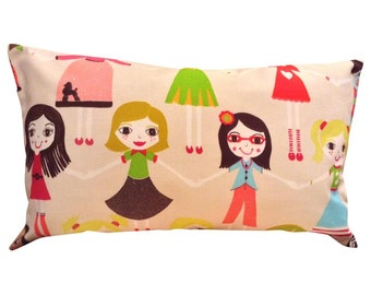Harlequin Best of Friends Pink Bolster Cushion Cover