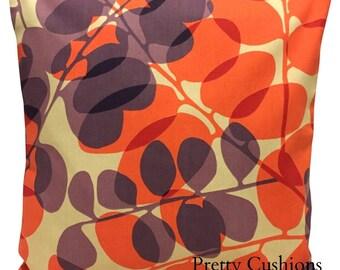 Scion Lunaria Melinki Plum & Coral Cushion Cover