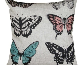 Harlequin Papilio Peach & Lagoon Cushion Cover