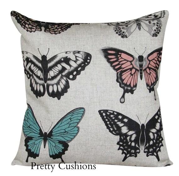 Harlequin Papilio Peach /& Lagoon Cushion Cover