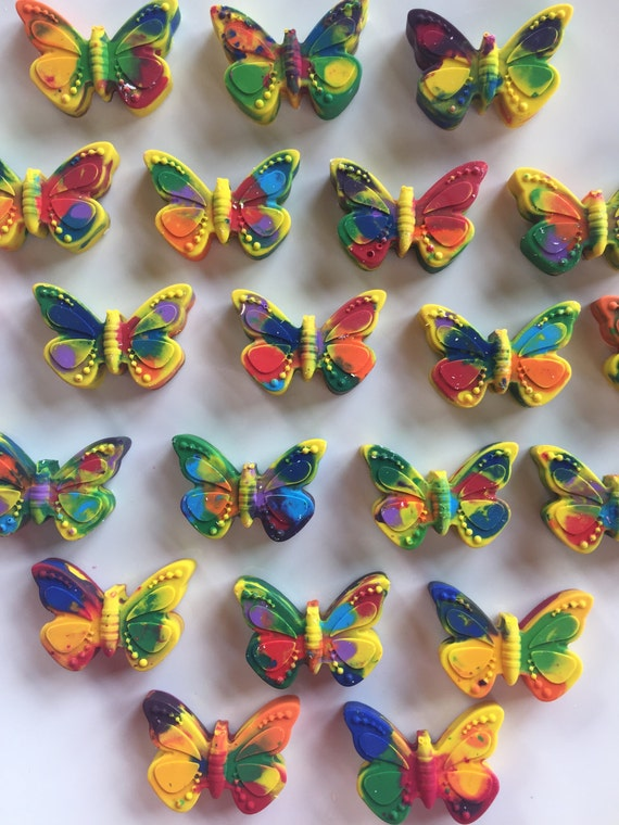 Easter Crayons Butterfly Birthday Party Favor Butterfly Valentine Gift For Kids Butterfly Shaped Crayons Easter Basket Crayon