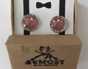 The Mountains are Calling Cufflinks