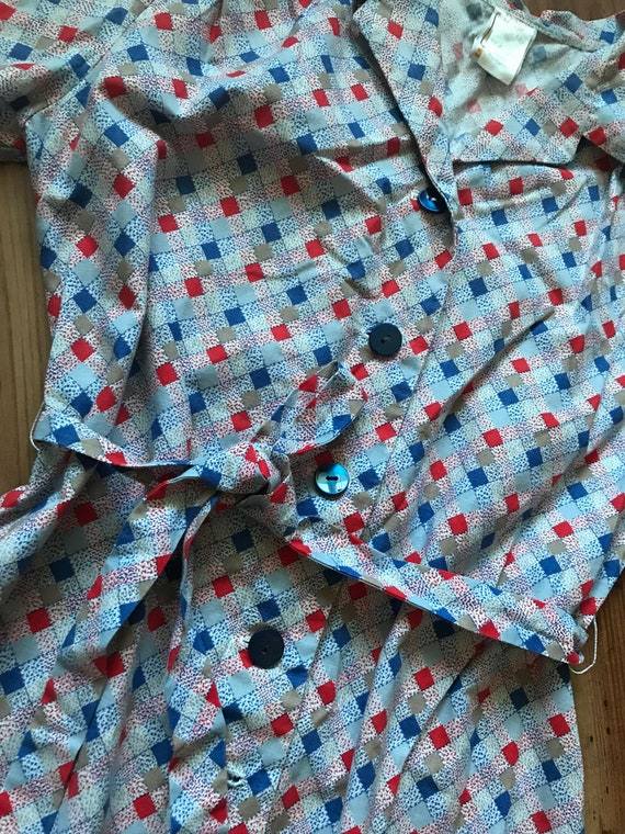 Vintage cotton summer shirt dress / Holiday dress… - image 4