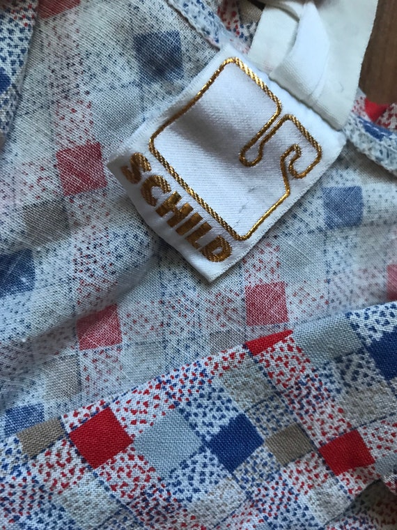 Vintage cotton summer shirt dress / Holiday dress… - image 5