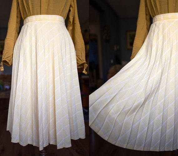 Vintage summer - Holiday skirt / Accordeon skirt/