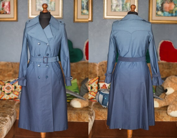 Vintage Trench coat / Ombre effect trench coat / N