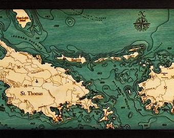 Virgin islands map | Etsy