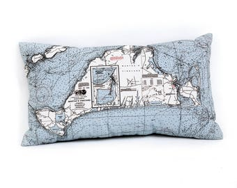 Martha's Vineyard, MA Indoor/Outdoor Nautical Pillow