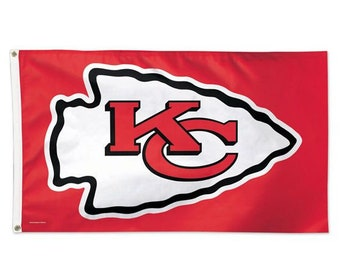 Super Bowl Champions, Licensed Kansas City Chiefs Flag - Deluxe 3' X 5'