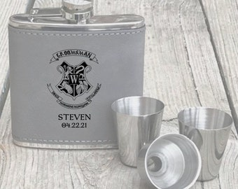 Harry Potter Groomsmen Gift Flask Set Best Man Harry Potter Flask