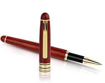 Personalized Pen Writing Set - Custom Ink Pen - Wood Ink Pen - Engraved Ink Pen with Refill (Black)