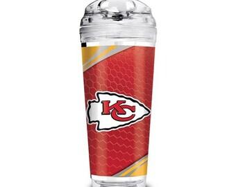 Kansas City Chiefs Tumbler, KC Chiefs 24 oz. Insulated Tumbler, KC Chiefs NFL Travel Mug