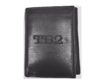 Personalized Mens Wallet Deluxe Black Leather Trifold Wallet Engraved Groomsman Monogram