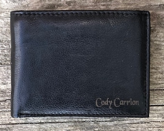 Personalized leather Wallet, Personalized wallet, personalized wallet for men, personalized mens wallet, leather wallet, deluxe leather
