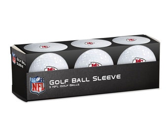 Kansas City Chiefs sleeve of 3 officially licensed Kansas City Chiefs golf balls.