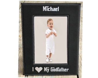 Godfather Gift Personalized, Godfather Picture Frame, Godfather Engraved Photo Frame, Godfather Proposal