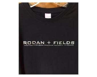Rodan and Fields T-Shirt, Custom R + F Black Shirt, Silver Glitter Rodan + Fields Logo