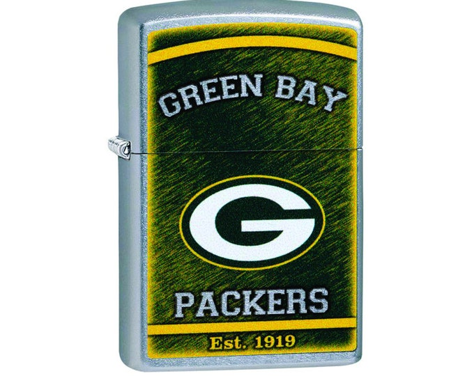 Greenbay Zippo Lighter, Greenbay Collectible, Greenbay NFL Licensed Zippo Lighter Personalized Free