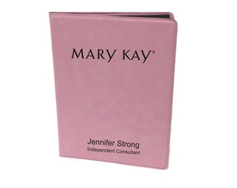 Mary Kay Pink Personalized Junior Note Pad Holder Portfolio