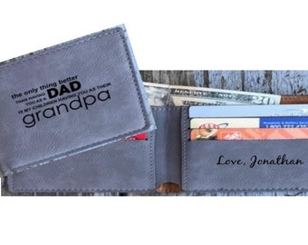 Father's Day Gift Personalized Gift For Dad Grandpa Gift For Fathers Day Wallet The Only Thing Better Than Having You as a Dad