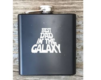 Best Dad In The Galaxy Star Wars Inspired Flask For Fathers Day Gift