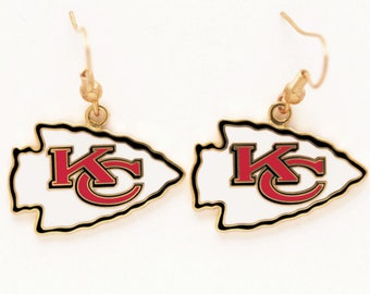 Kansas City Chiefs Officially Licensed Kansas City Chiefs Earrings, KC Chiefs, Patrick Mahomes Fan, Superbowl Champions