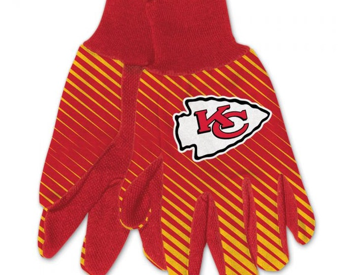 Kansas City Officially licensed two tones gloves, KC Chiefs Gloves, KC Chiefs Fan Gift