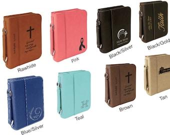 """Custom Bible Cover, Personalized Bible Cover, First Communion Gift, Baptism Gift, Medium Size 6 3/4"""" x 9 3/4"""" x 2"""""""