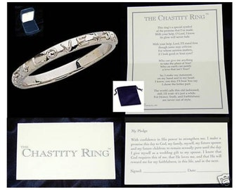 True Love Ring Sterling Silver With Pledge Card, Box and Velour Pouch