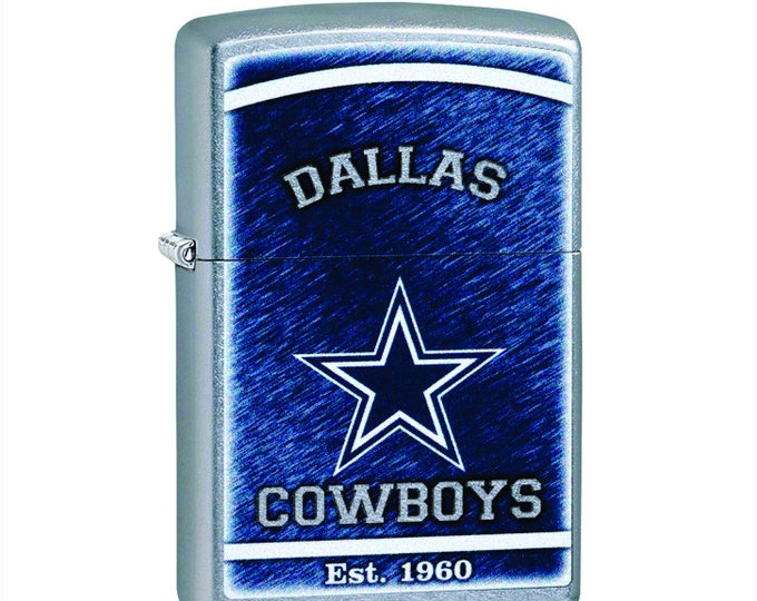 Dallas Cowboys Zippo Lighter, Greenbay Collectible, Greenbay NFL Licensed Zippo Lighter Personalized Free