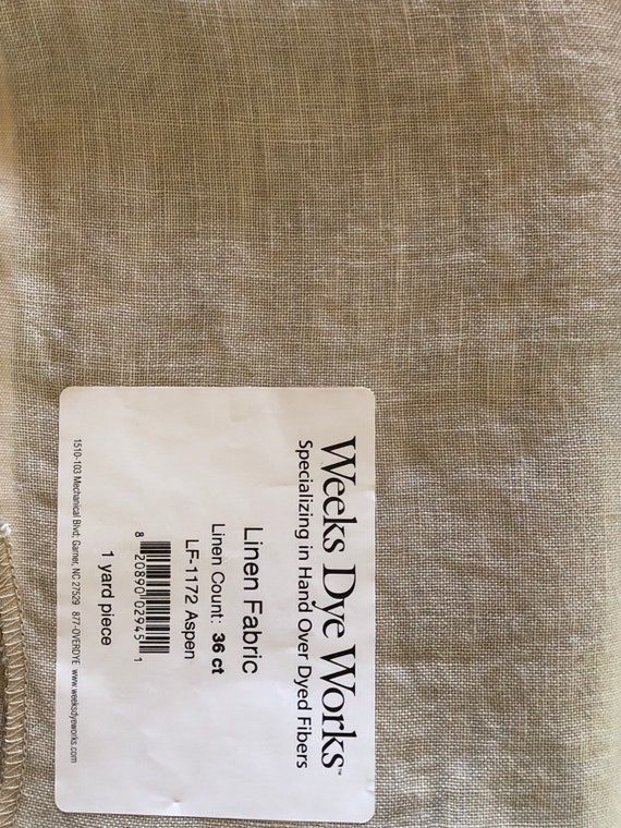 46 ct Confederate Gray Weeks Dye Works Linen