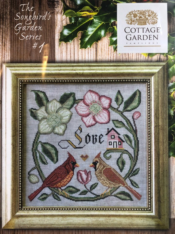 There is Beauty in Simplicity Cross Stitch Chart Songbird Garden Series 9